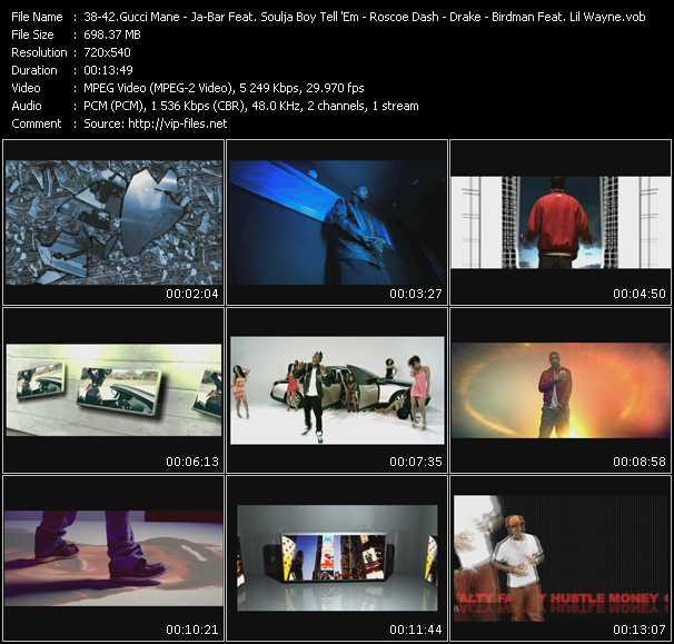 Gucci Mane - Ja-Bar Feat. Soulja Boy Tell 'Em - Roscoe Dash - Drake - Birdman Feat. Tyga And Lil' Wayne video screenshot