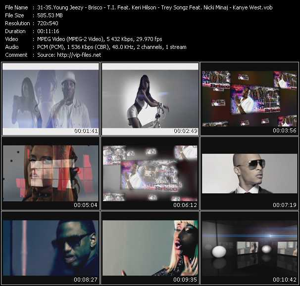 Young Jeezy Feat. Yo Gotti - Brisco Feat. Lil' Wayne - T.I. Feat. Keri Hilson - Trey Songz Feat. Nicki Minaj - Kanye West video screenshot