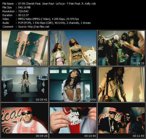 Cherish Feat. Sean Paul Of The YoungBloodz - LeToya - T-Pain Feat. R. Kelly, Pimp C, Too Short, MJG, Twista And Paul Wall video screenshot