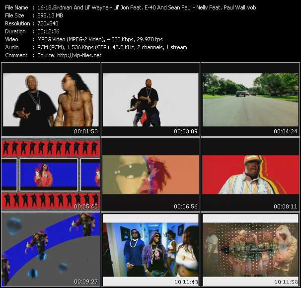 Birdman And Lil' Wayne - Lil' Jon Feat. E-40 And Sean Paul - Nelly Feat. Paul Wall, Ali And Gipp video screenshot