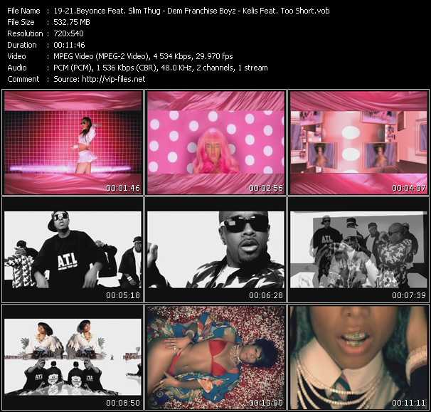Beyonce Feat. Slim Thug - Dem Franchize Boyz Feat. Jermaine Dupri, Da Brat And Bow Wow - Kelis Feat. Too Short video screenshot