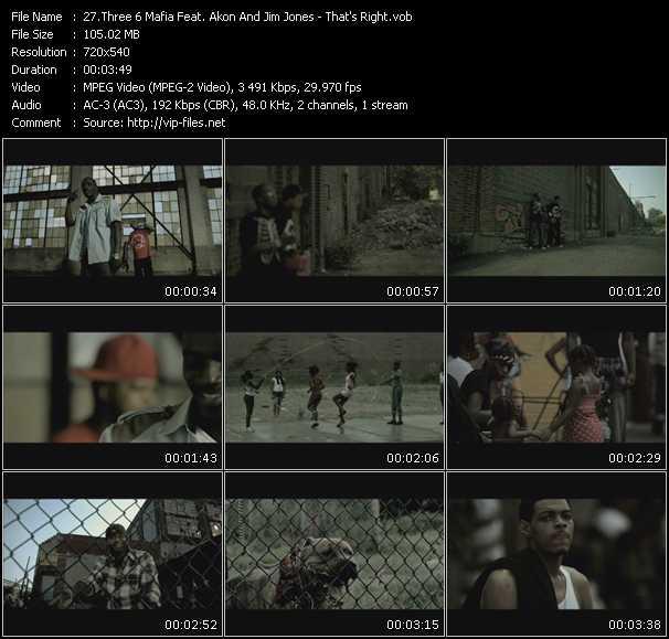 Three 6 Mafia Feat. Akon And Jim Jones video screenshot