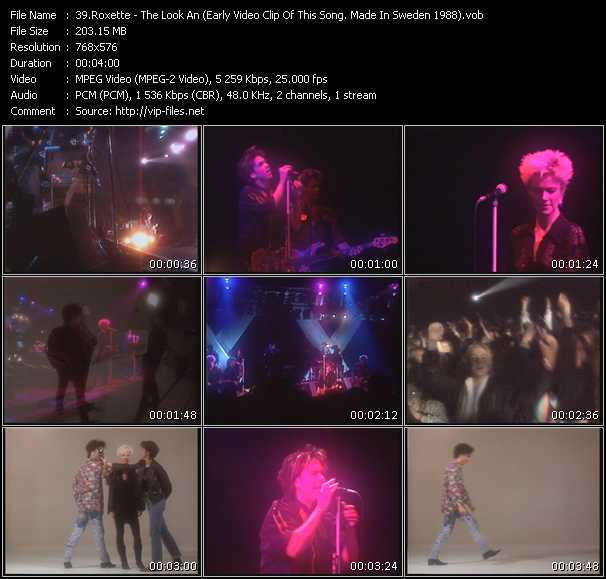 video The Look (An Early Video Clip Of This Song. Made In Sweden 1988) screen