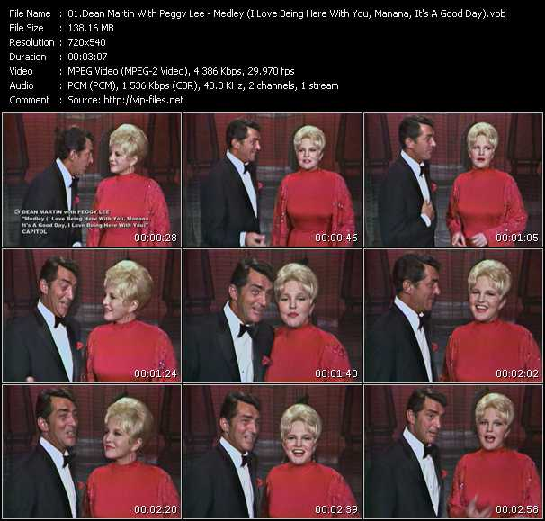 Dean Martin With Peggy Lee video screenshot