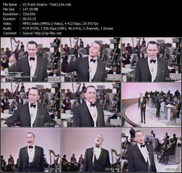 Frank Sinatra video screenshot