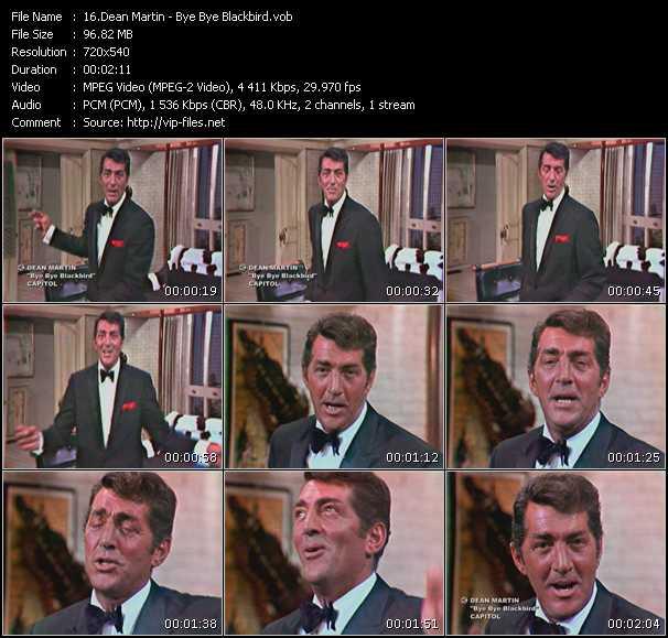 Dean Martin video screenshot