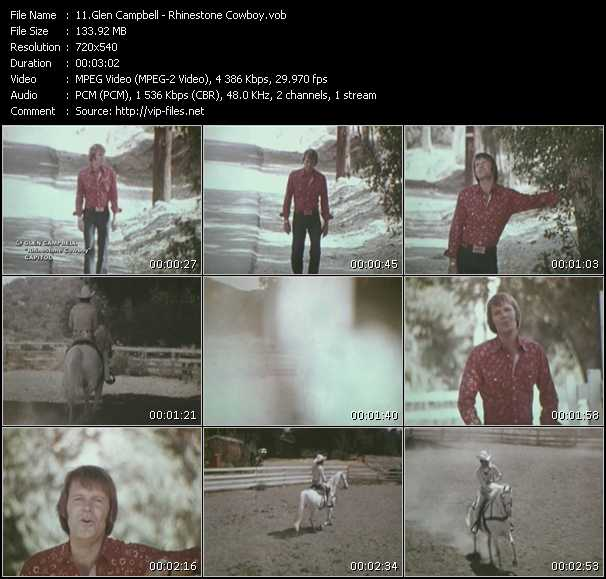 Glen Campbell video screenshot