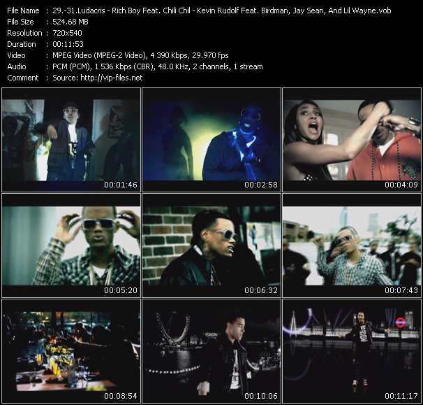 Ludacris - Rich Boy Feat. Chili Chil - Kevin Rudolf Feat. Birdman, Jay Sean, And Lil' Wayne video screenshot