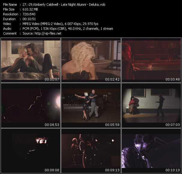 Kimberly Caldwell - Late Night Alumni - Deluka video screenshot