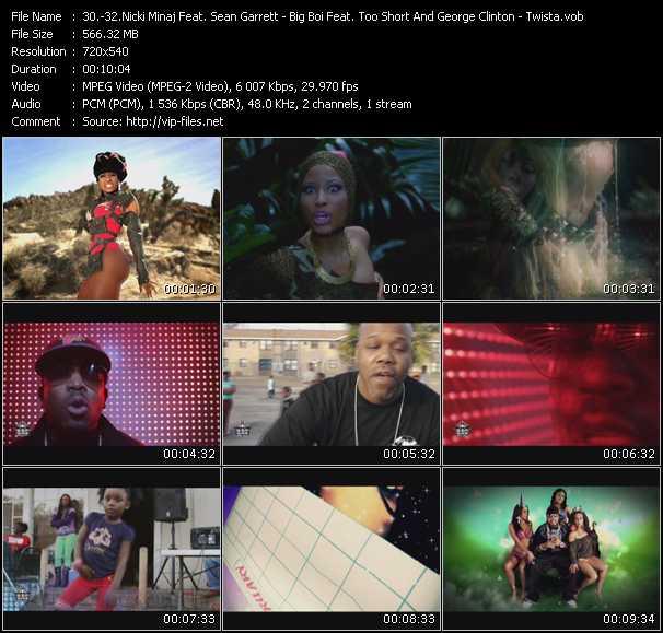 Nicki Minaj Feat. Sean Garrett - Big Boi Feat. Too Short And George Clinton - Twista video screenshot