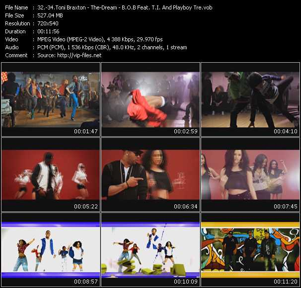 Toni Braxton - The-Dream - B.O.B. Feat. T.I. And Playboy Tre video screenshot