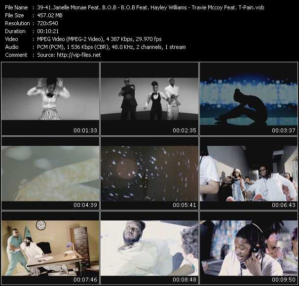 Janelle Monae Feat. B.O.B. And Lupe Fiasco - B.O.B. Feat. Hayley Williams - Travis McCoy Feat. T-Pain And Young Cash video screenshot