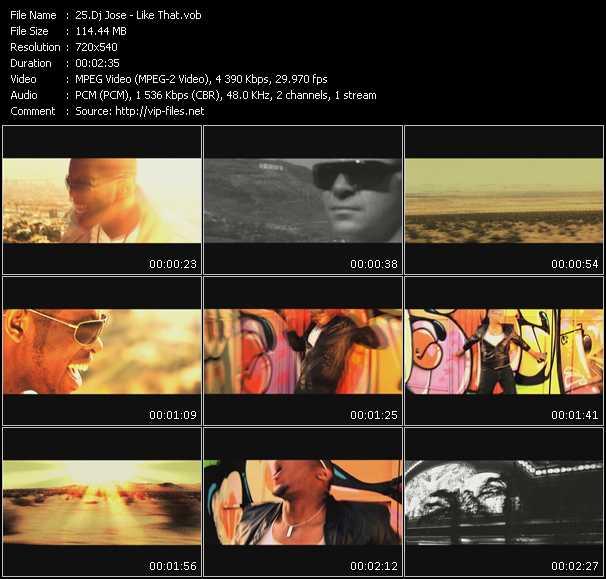 Dj Jose video screenshot