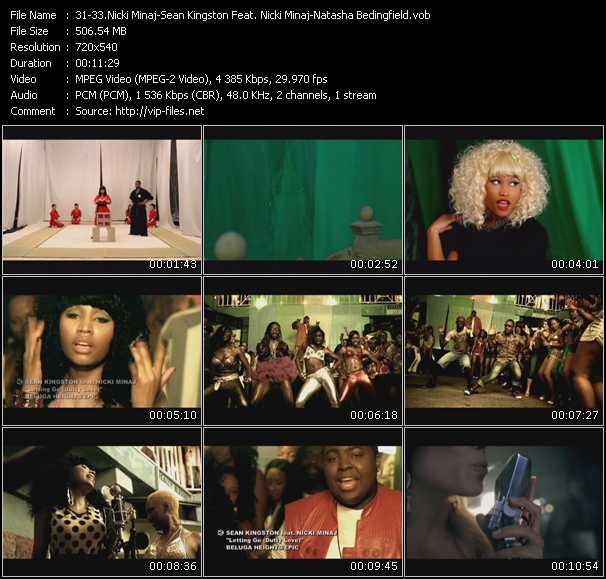 Nicki Minaj - Sean Kingston Feat. Nicki Minaj - Natasha Bedingfield video screenshot