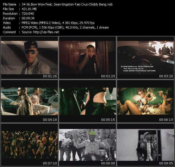 Bow Wow Feat. Sean Kingston - Taio Cruz - Chiddy Bang video screenshot