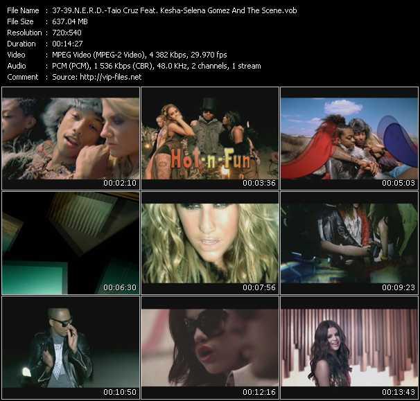 N.E.R.D. - Taio Cruz Feat. Kesha - Selena Gomez And The Scene video screenshot