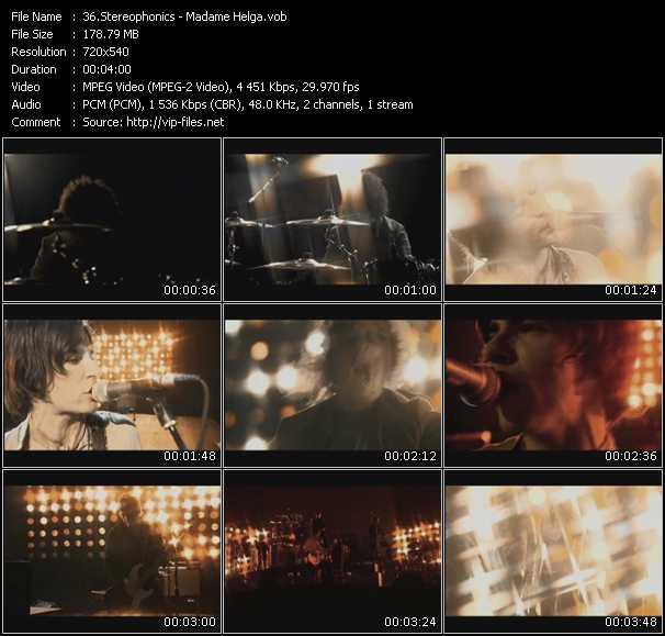 Stereophonics video screenshot