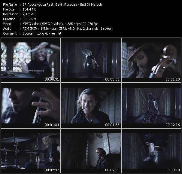 Apocalyptica Feat. Gavin Rossdale video screenshot