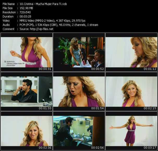 Cristina video screenshot