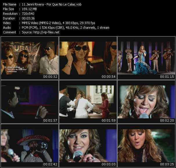 Jenni Rivera video screenshot