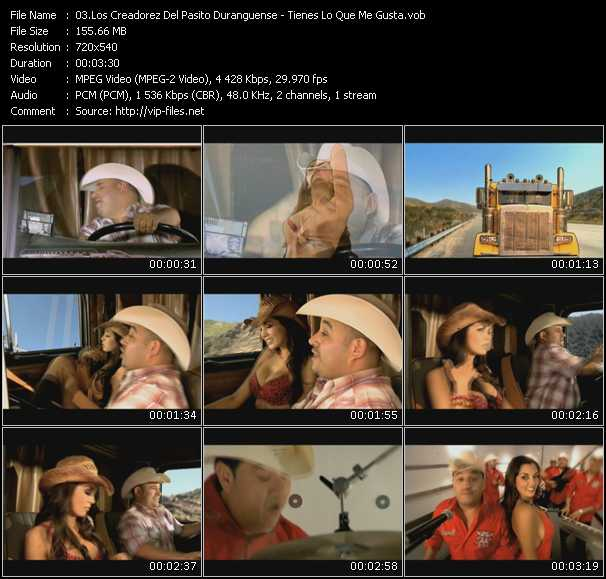 Los Creadorez Del Pasito Duranguense video screenshot