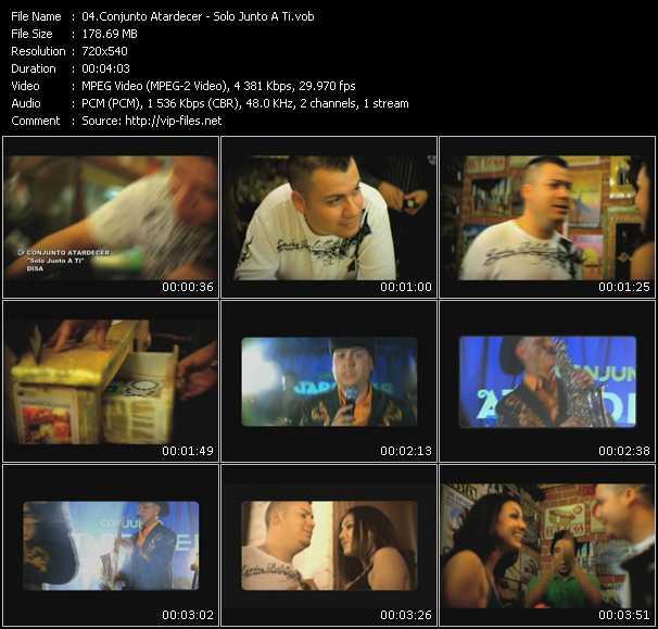 Conjunto Atardecer video screenshot