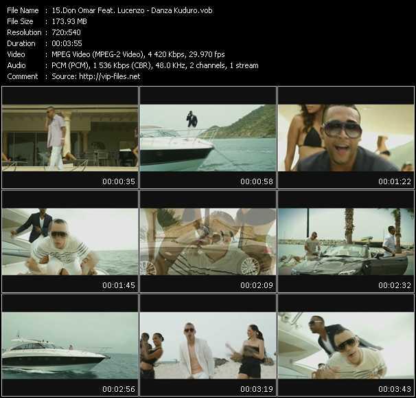 video Danza Kuduro screen