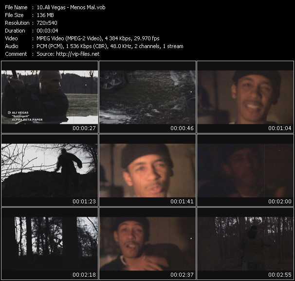 Ali Vegas video screenshot