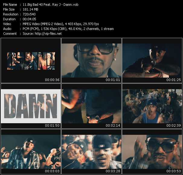 Big Bad 40 Feat. Ray J video screenshot
