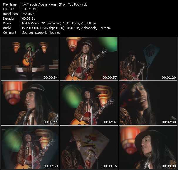 Freddie Aguilar video screenshot