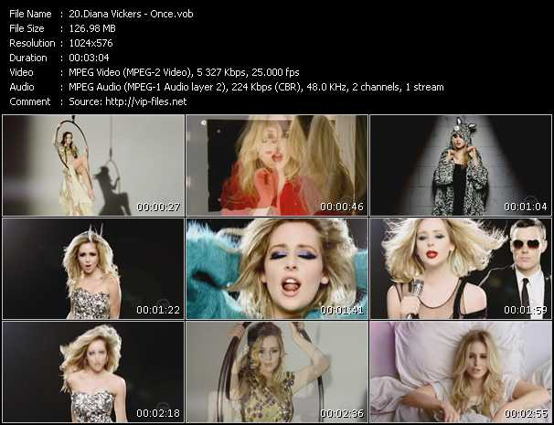 Diana Vickers video screenshot