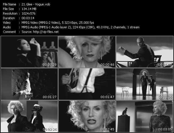 Glee video screenshot