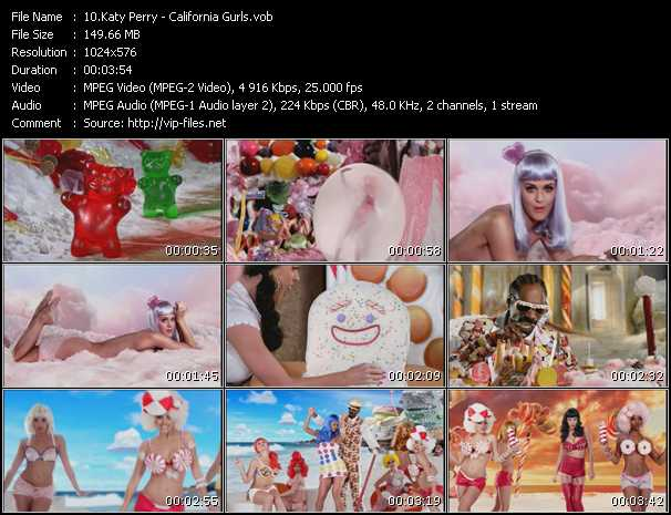 video California Gurls screen