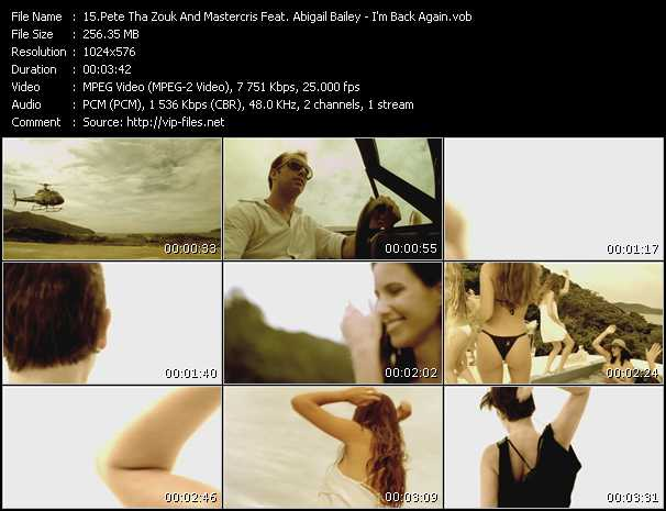 Pete Tha Zouk And Mastercris Feat. Abigail Bailey video screenshot