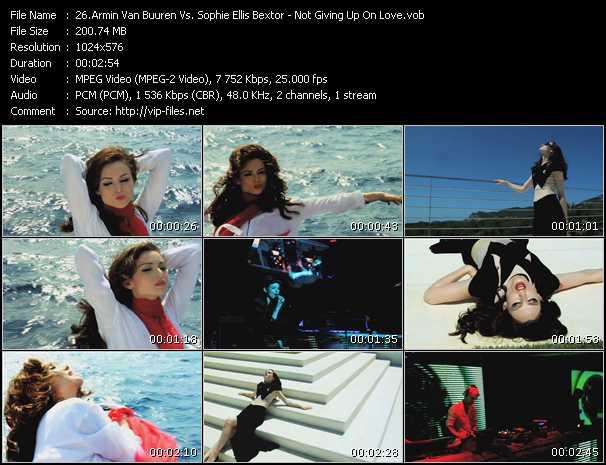 Armin Van Buuren Vs. Sophie Ellis-Bextor video screenshot