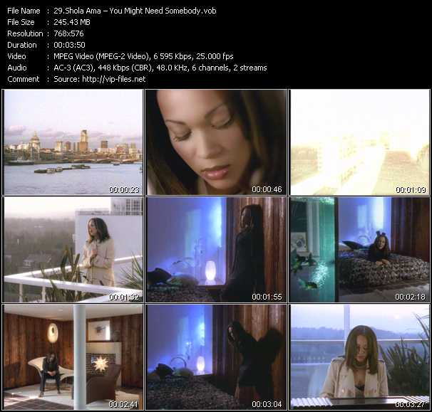 Shola Ama video screenshot