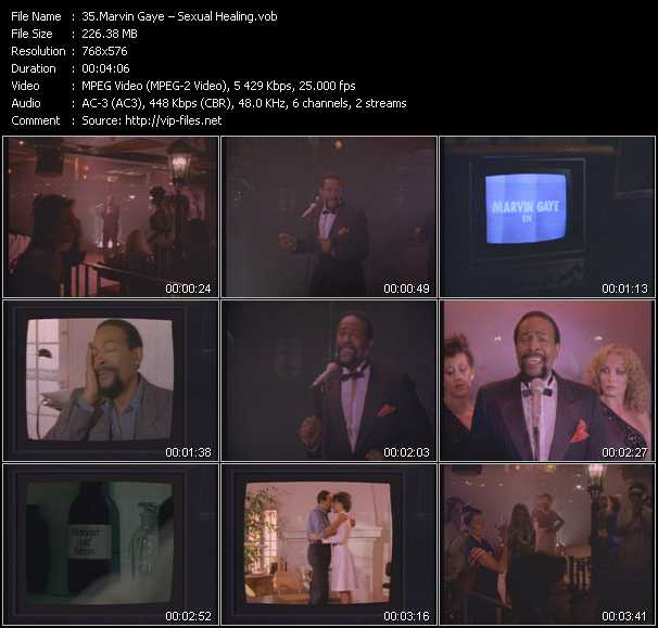 Marvin Gaye video screenshot