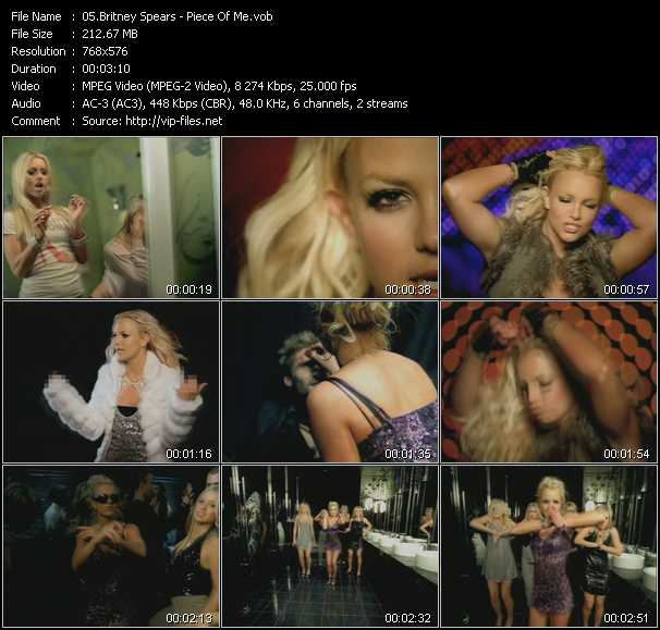 Britney Spears video screenshot