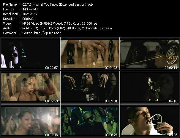 video What You Know (Extended Version) screen