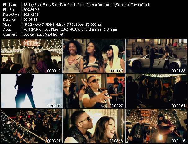 video Do You Remember (Extended Version) screen