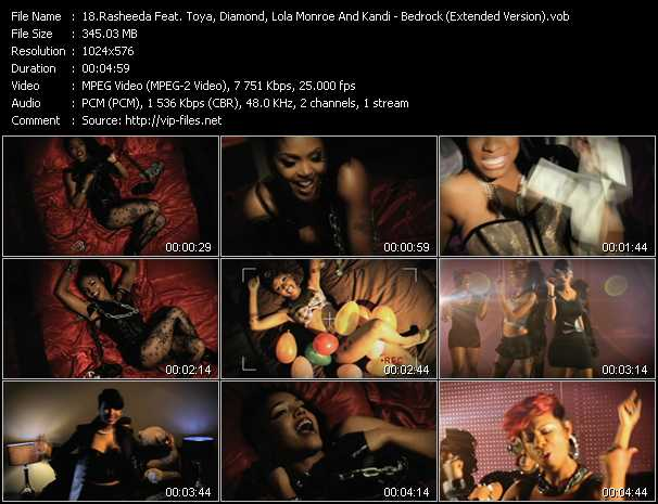 Rasheeda Feat. Toya, Diamond, Lola Monroe And Kandi video screenshot