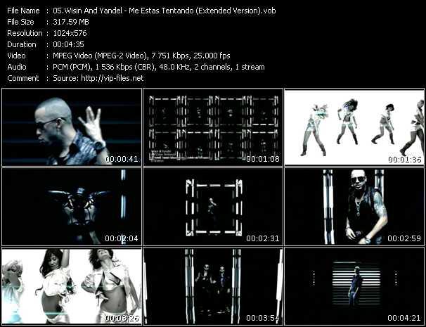 video Me Estas Tentando (Extended Version) screen