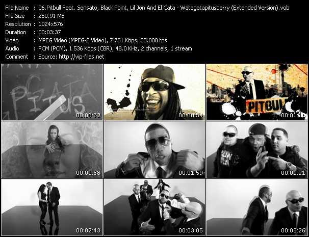 Pitbull Feat. Sensato, Black Point, Lil' Jon And El Cata video screenshot