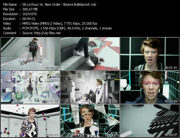 La Roux Vs. New Order video screenshot