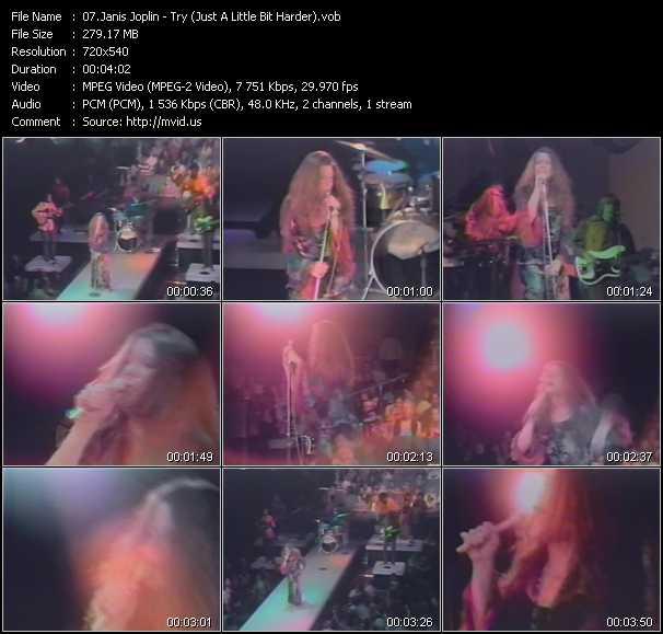 Janis Joplin video screenshot