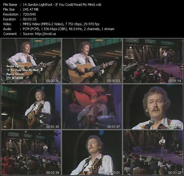 Gordon Lightfoot video screenshot