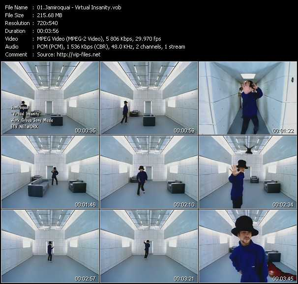 video Virtual Insanity screen