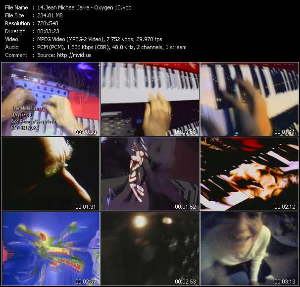Jean Michel Jarre video screenshot