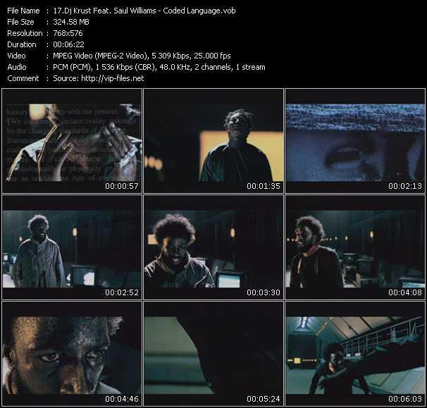 Dj Krust Feat. Saul Williams video screenshot