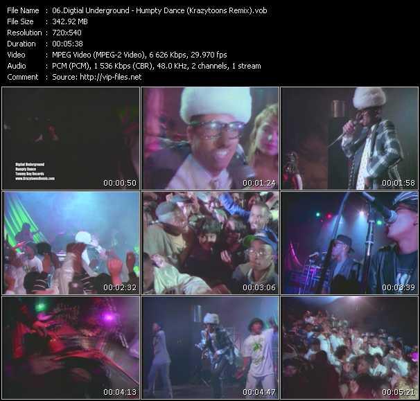 video Humpty Dance (Krazytoons Remix) screen